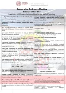 Cooperative Pathways Meeting –  Department of Philosophy, Sociology, Education and Applied Psychology,  University of Padua,  8-10 June 2017 Thumb
