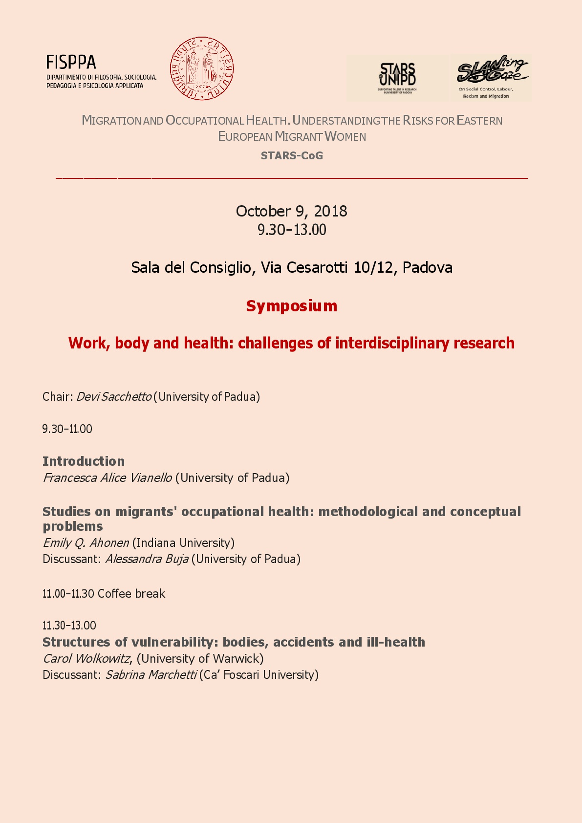 Work, body and health: challenges of interdisciplinary research Thumb