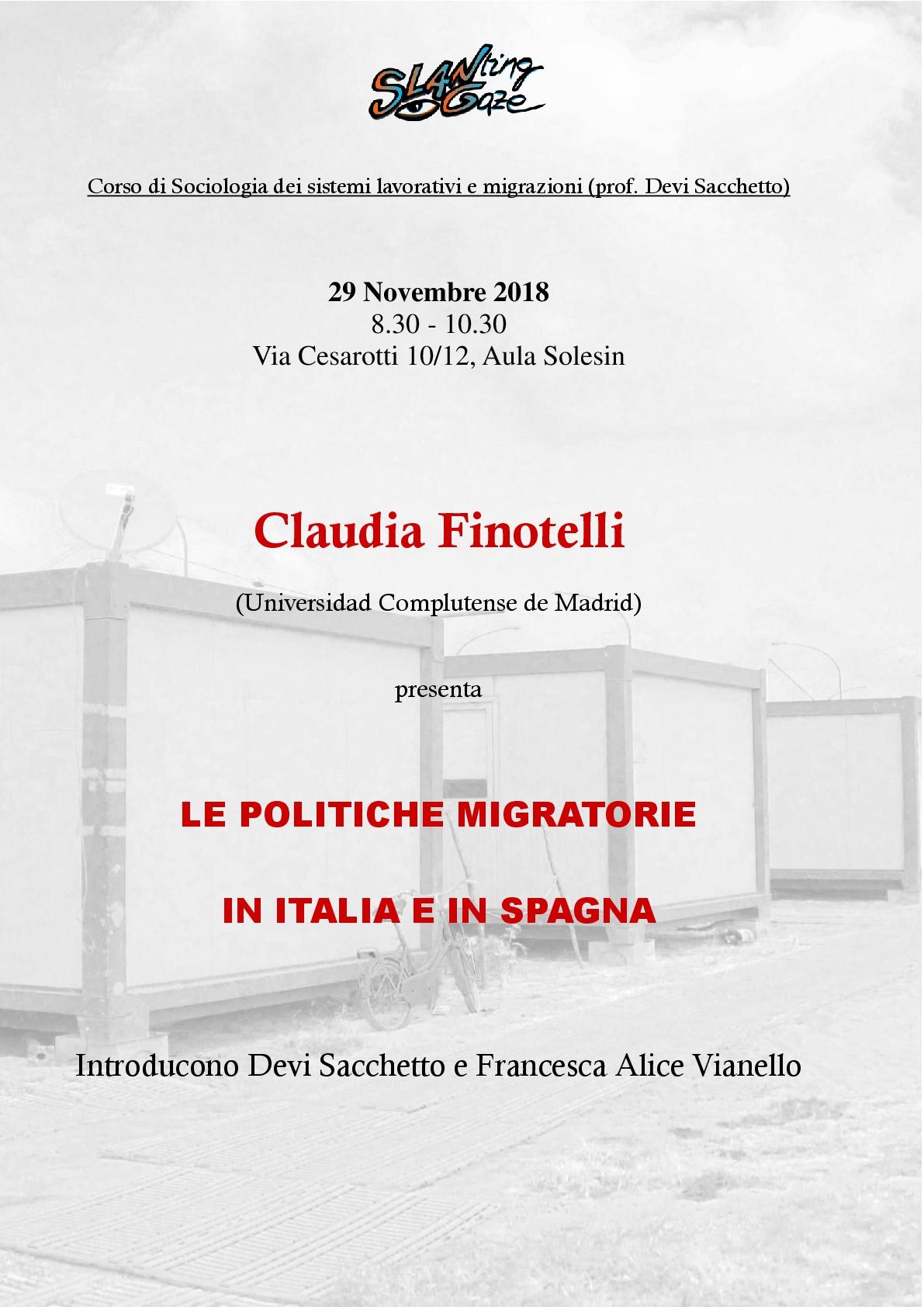 """Claudia Finotelli """"LE POLITICHE MIGRATORIE IN ITALIA E IN SPAGNA"""" Thumb"""