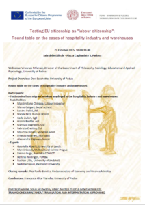 """Testing EU citizenship as """"labour citizenship"""": the cases of hospitality industry and warehouses Thumb"""