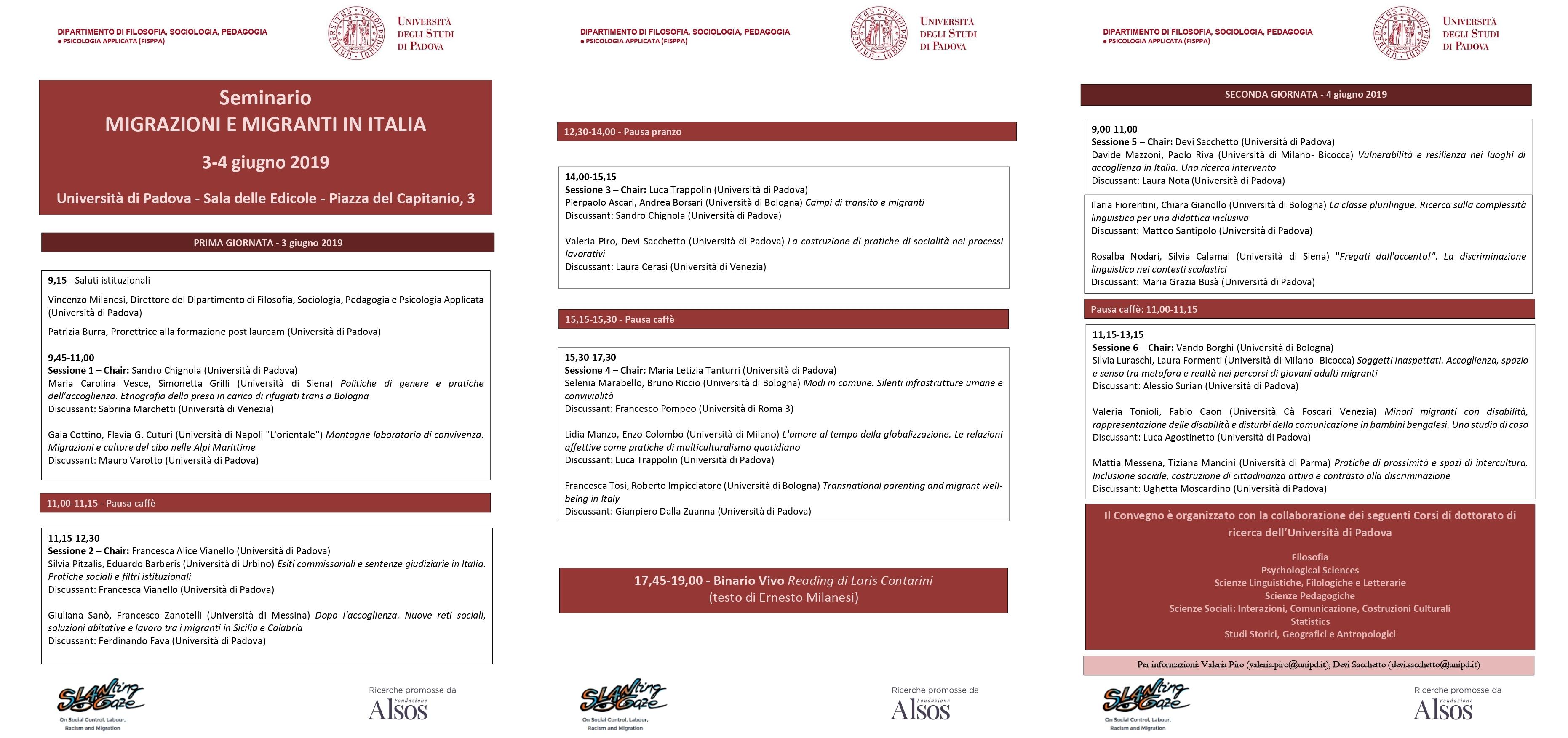 """Seminario """"Migrazioni e migranti in Italia"""" Thumb"""