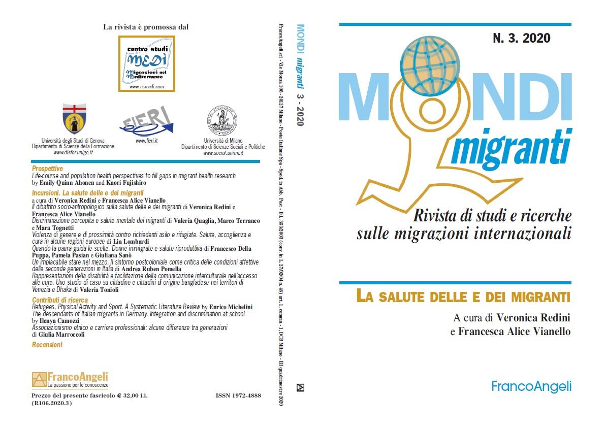 Il dibattito socio-antropologico sulla salute delle e dei migranti, 3, Mondi Migranti, 2020. Cover